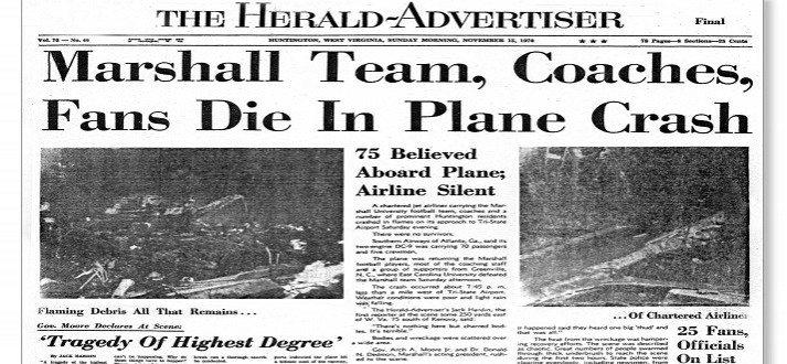 Southern-Airways-Flight-932–Marshall-University-Football-Team-Tragedy–1970