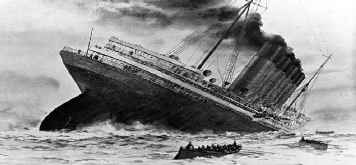 Sinking-of-the-Lusitania-1915